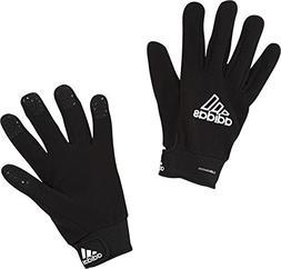 adidas Field Player Fleece Glove, Black/White, Size 6