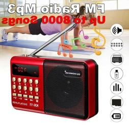fm am mini radio digital lcd speaker