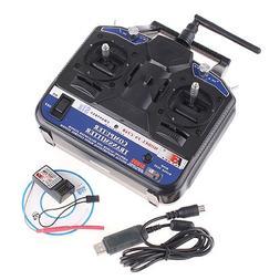 2.4G FS-CT6B 6 CH Radio Model RC Transmitter & Receiver PPM/