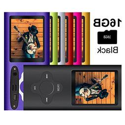 G.G.Martinsen Black Stylish MP3/MP4 Player with a 16GB Micro