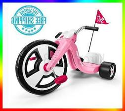 Girls Trike Radio Flyer Big Wheels Pink Tricycle Toddler Out