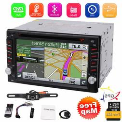"""GPS Navigation With Map Bluetooth Radio Double Din 6.2"""" Car"""