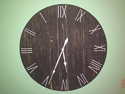 "Handmade Large Rustic Wall Clock -40"" diameter made of real"