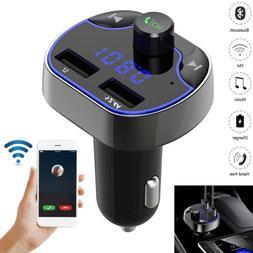 Hands-free Bluetooth Car Kit FM Transmitter TF MP3 Player US
