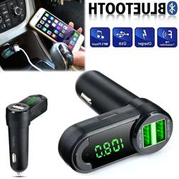 Handsfree Bluetooth Car Kit FM Transmitter LCD MP3 Player US