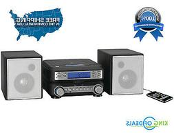 GPX HC221B Compact CD Player Stereo Home Music System with A