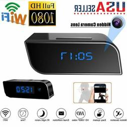 HD 1080P Spy Hidden Camera Clock Wifi Wireless Security Home