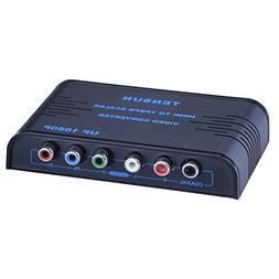 Tensun 1080P HDMI to Component RGB YPbPr 5RCA Converter Adap