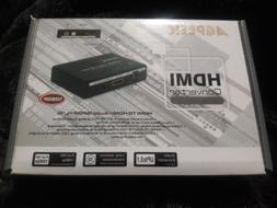 AGPTEK HDMI Converter HDMI to HDMI + Audio New In Box 1080p