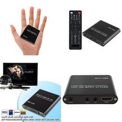 Hdmi Media Player Agptek Black Mini 1080P Full Hd Ultra Hdmi