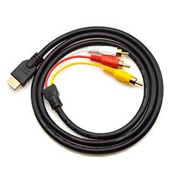 eBerry HDMI to RCA Cable, HDMI Male to 3RCA AV Composite Mal