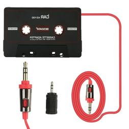 High Quality 3.5mm Car MP3 Adapter Aux Cable Cord Tape Playe