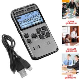 High Quality 64GB LCD Digital Audio Sound Voice Recorder Dic