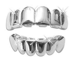 Lil Wayne Player Silver Platinum Metal Teeth Mouth Grillz Se