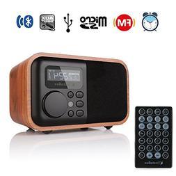 InstaBox i90 Upgraded Wooden Digital Multi-Functional Speake