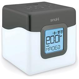 iHome Bluetooth Compact Dual Alarm Clock Radio with Large Ea