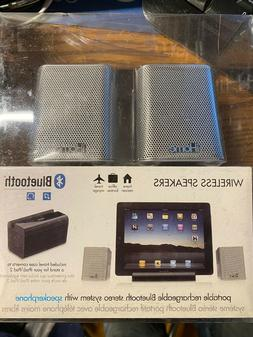 iHome iDM15 Rechargeable Portable Bluetooth Speakers with Sp