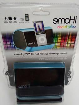 iHome IHM10LC Portable MP3 Player Speaker System - Blue
