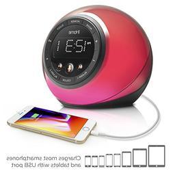 iHome iBT297 Bluetooth Alarm Clock Radio and Color Changing