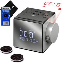 New & Improved - Sony Projector Dual Alarm Clock with Extend