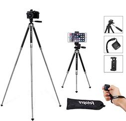 Fotopro MS-4K-US Phone Tripod, 39.5 Inch Aluminum Camera Tri