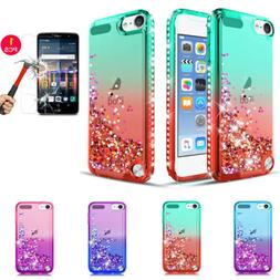 For iPod Touch 5 6 7th Generation Liquid Glitter Case Cover
