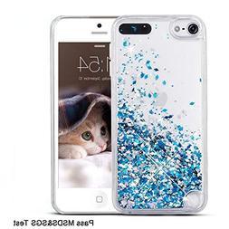 Maxdara iPod 5 Case, iPod 6 Case, Glitter Liquid Floating Bl