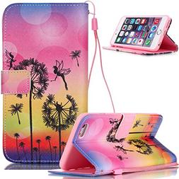 iPod Touch 6 Case,iPod Touch 5 Case,NSSTAR Dandelion Fairy B