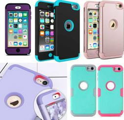For iPod Touch 6th & 7th Gen - Hard & Soft Hybrid Shockproof