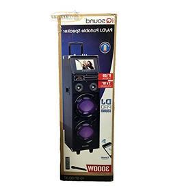 "Supersonic IQ Sound IQ-3710DJBT Portable DJ Speaker with 9"""
