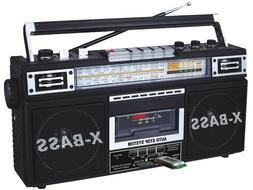 QFX J-22U Retro Collection 4-Band Radio +Bluetooth +Cassette