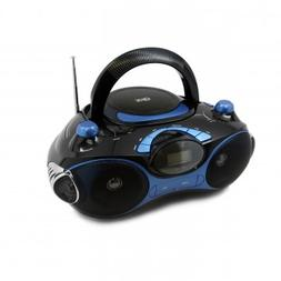 QFX J30UBL Radio CD/MP3 Player with USB/SD, Blue