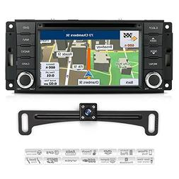 Aimtom Jeep Dodge Chrysler Indash GPS Navigation Display wit