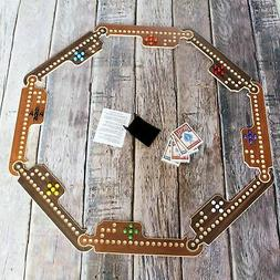 Jokers and Marbles Game Brown 4-8 Player