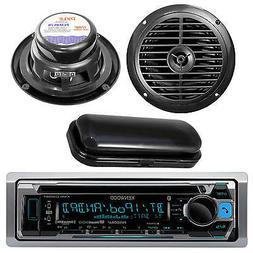 "Kenwood New Marine CD iPhone Radio Player 6.5"" Black Speaker"