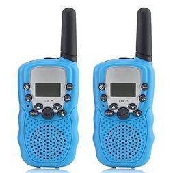 Waltsom Kids Walkie Talkies, 2 Pack Portable T388 3KM Long R