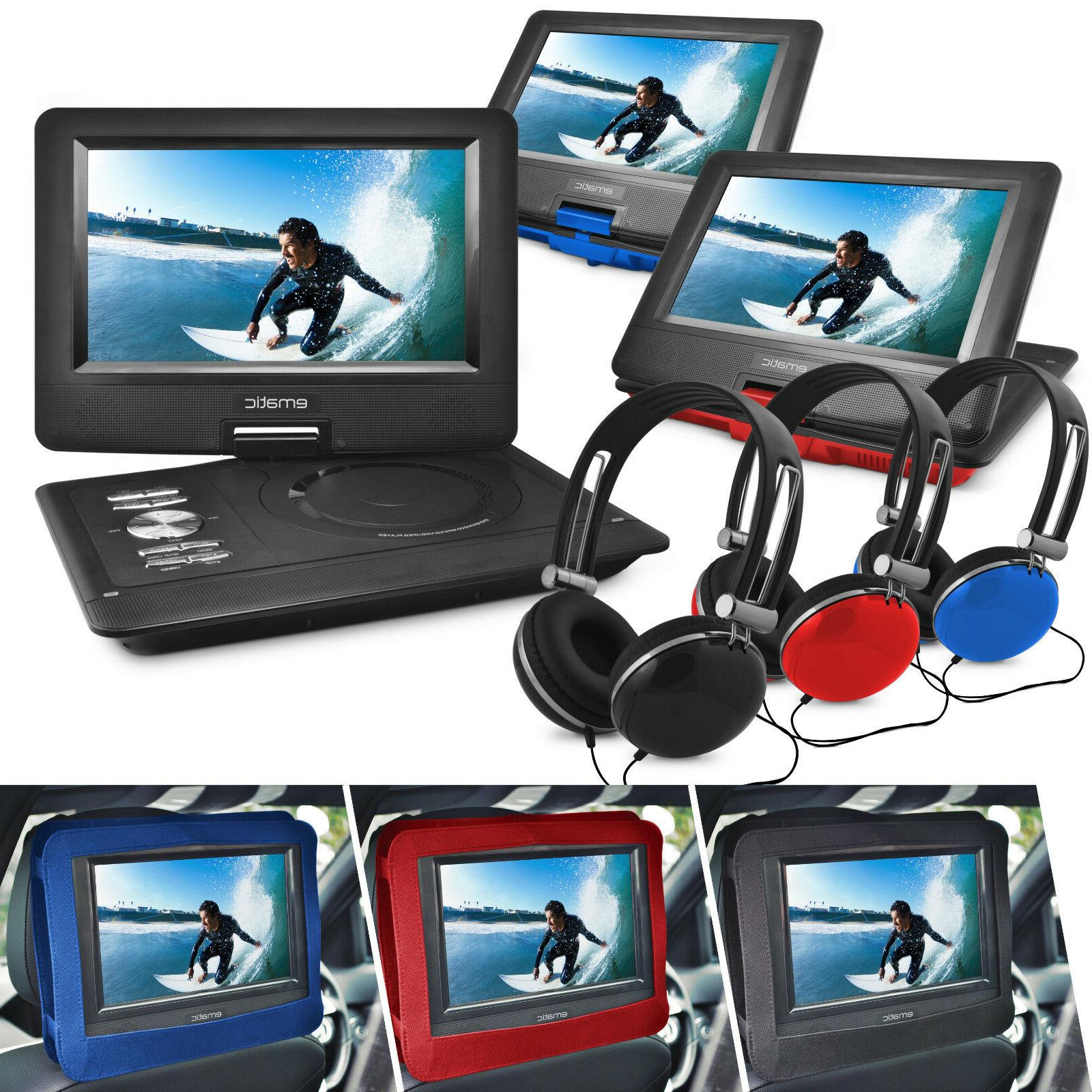 10 portable dvd player with headphones