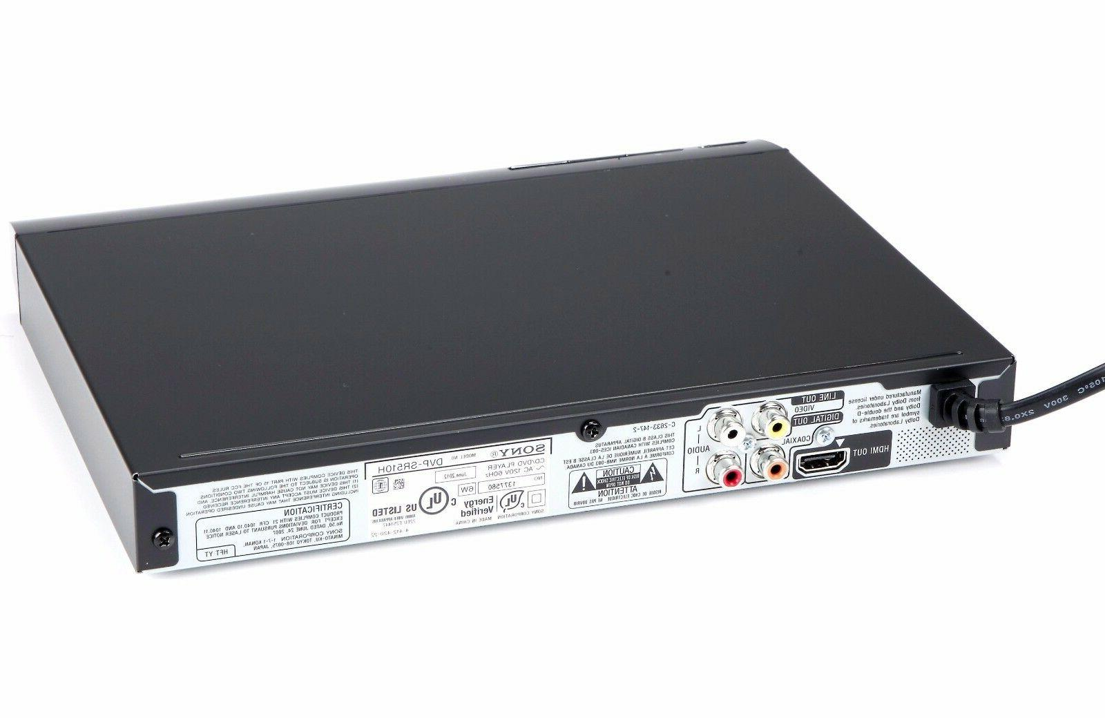 Sony 1080p Full Upscaling Multi-format Player w/ HDMI | DVP-SR510