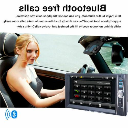 """1080P HD Bluetooth Stereo 2 7"""" FM Player Touch"""
