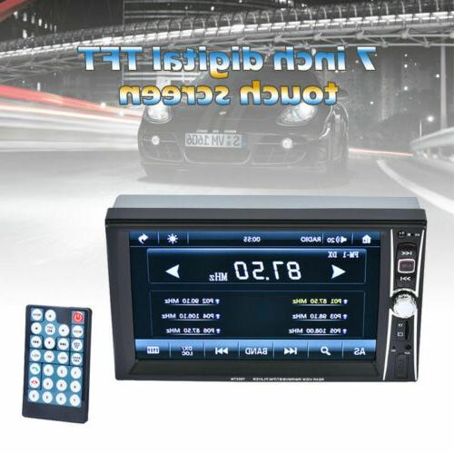 """1080P Stereo Radio 2 7"""" FM Player Touch Screen"""