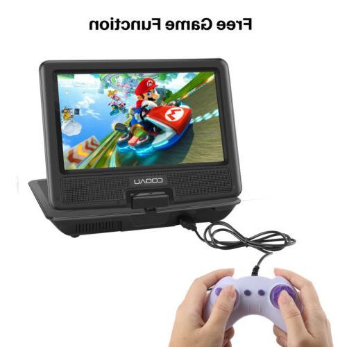 COOAU Portable Player Swivel Car , travel