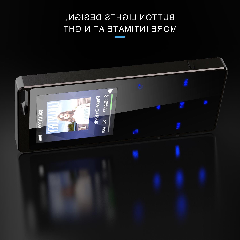 AGPTEK 16GB Bluetooth MP3 with FM Radio Recorder