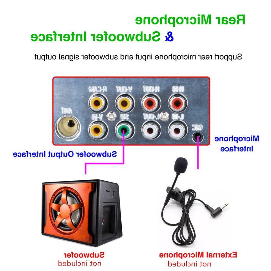 "1DIN <font><b>4</b></font>.1"" <font><b>Player</b></font> support Subwoofer Micophone Dynamic Camera"