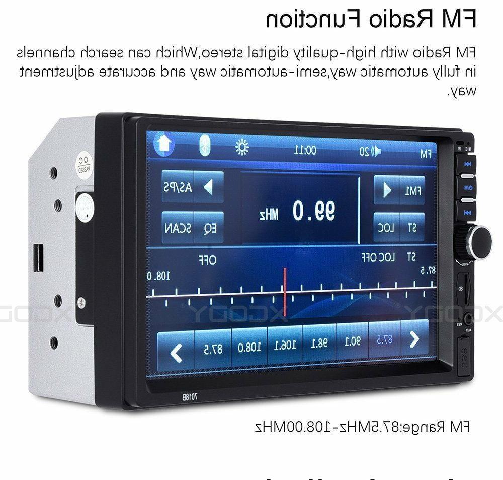 "2 7"" Car Stereo Radio MP5 Bluetooth In Dash 4LED"