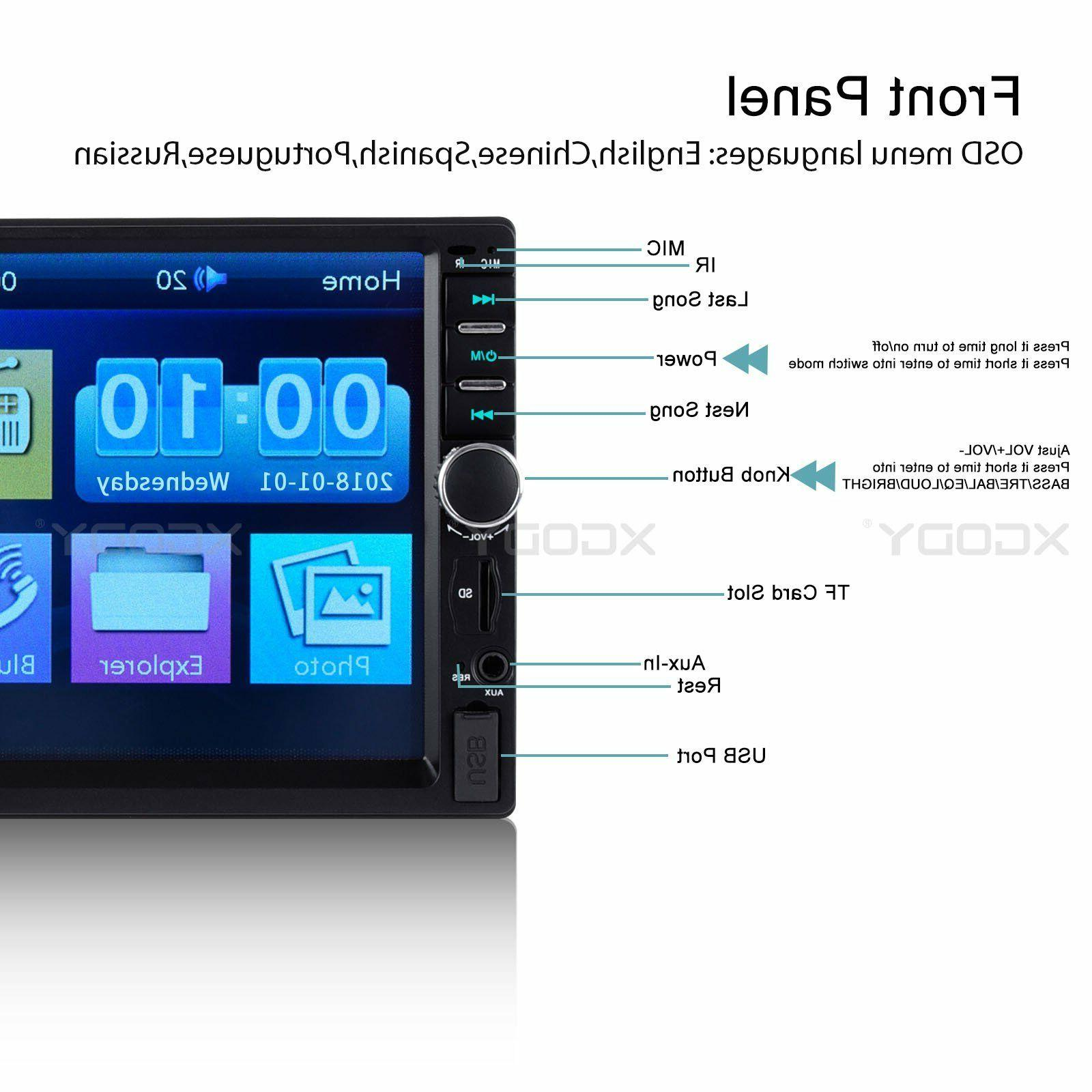 2 Din Stereo Bluetooth Link In CAM