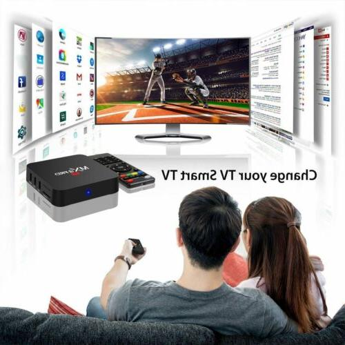 2019 MXQ Android Smart TV Box Quad 4K 2.4GHz