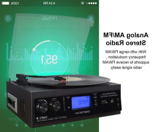 3-Speed Bluetooth Built-in Stereo Record to MP3