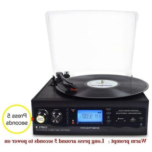 3-Speed Vinyl Built-in Speaker Record to
