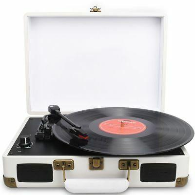 3-Speed USB Turntable/ Vintage Vinyl Archiver Player w/Speakers