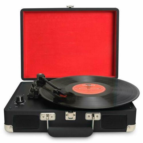 3 speed portable usb turntable vintage vinyl